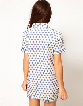 Image 2 ofVero Moda Intimates Althea Blue Night Shirt