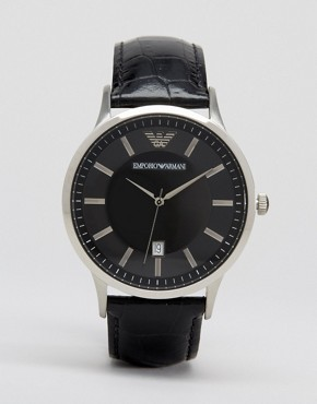 Image 1 ofEmporio Armani AR2411 Leather Watch