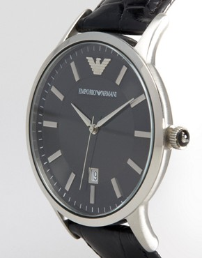 Image 2 ofEmporio Armani AR2411 Leather Watch
