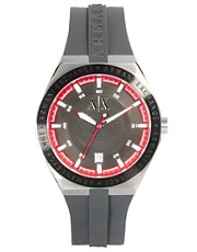 Armani Exchange AX1220 Watch Grey Silicone Strap