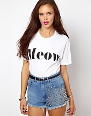 Camiseta Meow de Brashy Couture