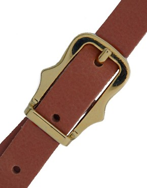 Image 2 of ASOS Leather Skinny Waist Belt