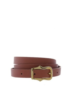 Image 1 of ASOS Leather Skinny Waist Belt