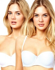 New Look 2 Pack Strapless Stripe Bras