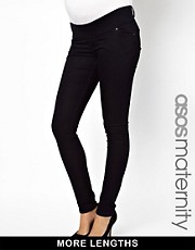 ASOS Maternity Exclusive Elgin Skinny Jean In Indigo With Stretch Waistband