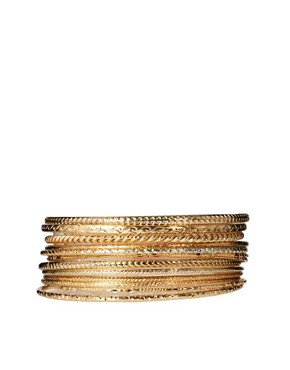 Image 2 ofRiver Island Hanging Charms Bangle Pack