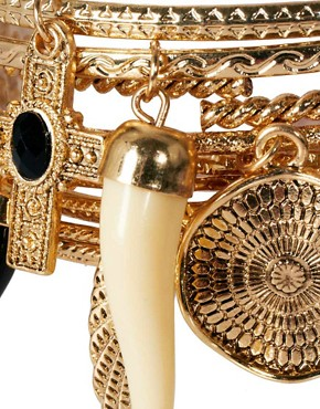 Image 4 ofRiver Island Hanging Charms Bangle Pack