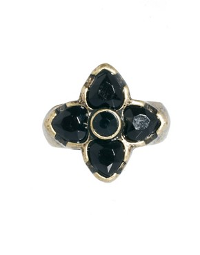Image 3 ofASOS Mixed Opaque Stone Ring Pack
