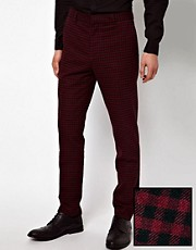 ASOS Skinny Fit Suit Trousers in Gingham Check