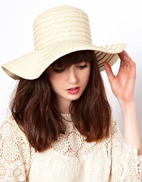 Image 1 ofASOS Straw Floppy Hat