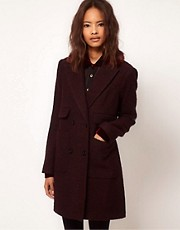 ASOS Fur Collar Car Coat