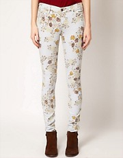 Citizens Of Humanity Rose Print Avedon Skinny Jeans