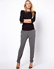 ASOS Peg Trousers in Charcoal Marl
