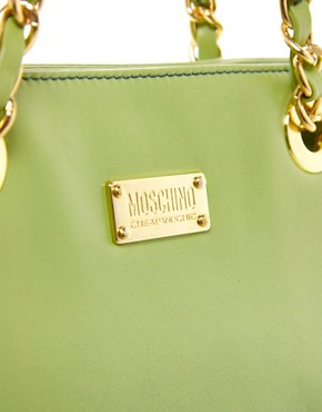 Image 4 ofMoschino Cheap &amp; Chic Dip Dye Chain Shopper Bag