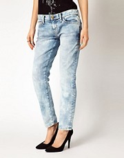 Current/Elliot Marbled Skinny Jeans