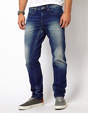 G Star Jeans A-Crotch Regular Tapered Mid Destroy Wash