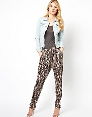 Mango Printed Trousers