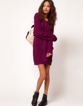 Image 4 ofASOS Cable Jumper Dress