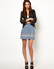 Warehouse Totem Embroidered Skater Skirt