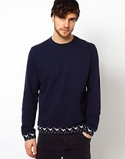 Paul Smith Jeans Sweatshirt with Aztec Trim
