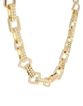 Image 3 ofASOS Chunky Mix Chain Choker Necklace