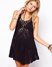 ASOS Crochet Village Vest Swing Dress