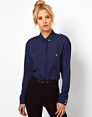 ASOS Shirt With Utility Button Detail