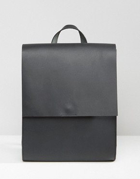 ASOS Leather Boxy Backpack