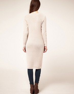 Image 2 ofDagmar Midi Length Cardigan in Wool with Deco Knit Detailing