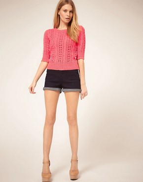 Image 4 ofASOS PETITE Exclusive Cable Jumper