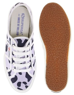 Image 3 ofSuperga House of Holland Collaboration Lilac Leopard Plimsolls