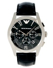 Reloj con correa de cuero AR1633 de Emporio Armani