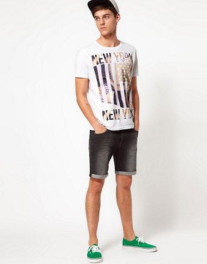 Image 4 ofASOS Denim Shorts In Skinny Fit