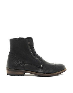 Image 4 ofFeud Vicious Shearling Lined Military Boots
