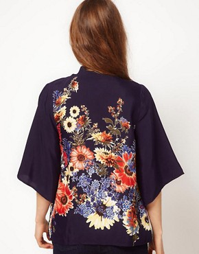 Image 2 ofA Wear Bouquet Print Kimono Jacket