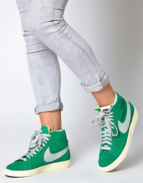 Image 4 ofNike Blazer Mid Mint High Top Trainers