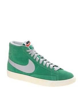 Image 1 ofNike Blazer Mid Mint High Top Trainers