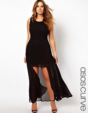 ASOS CURVE Maxi Dress With Step Hem
