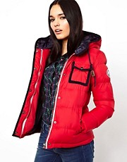 Chaqueta acolchada con ribetes en contraste de Bellfield