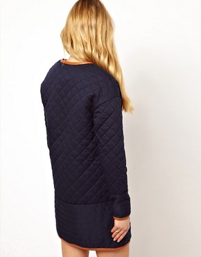 Image 2 ofVila Padded Long Line Jacket