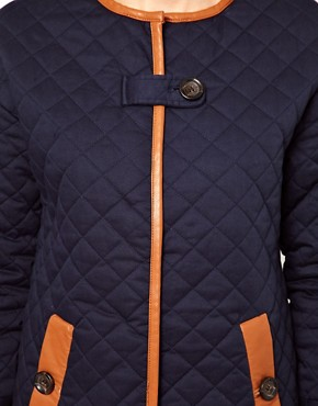 Image 3 ofVila Padded Long Line Jacket