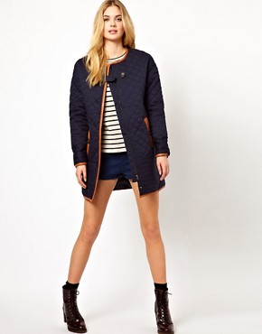 Image 4 ofVila Padded Long Line Jacket