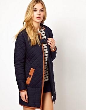 Image 1 ofVila Padded Long Line Jacket