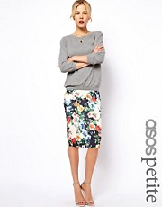 ASOS PETITE Exclusive Pencil Skirt In Floral Print