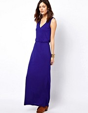 Warehouse V Detail Maxi Dress