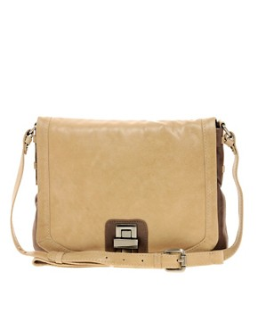 Image 1 ofUrban Code Leather Cross Body Bag with Lock Detail