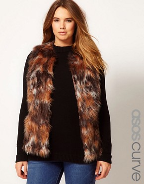 Image 1 ofASOS CURVE Exclusive Fur Gilet