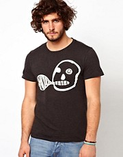 Paul Smith Jeans T-Shirt with Skull Believe Pocket