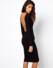 ASOS Bodycon Midi Dress With Square Open Back