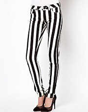 ASOS Elgin Skinny Jeans in Mono Stripe